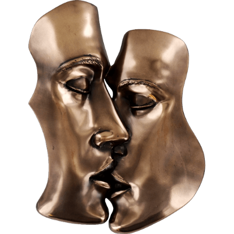 Kiss Cold Cast Bronze Sculpture